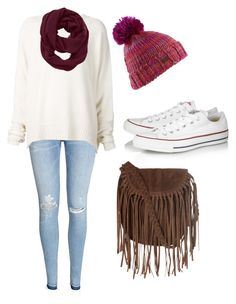 """Maroon scarf"" by bamagalhgf on Polyvore featuring H&M, URBAN ZEN, Athleta, Burton, Converse and Glamorous"