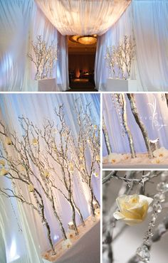 Altar Idea, but with natural branches not painted silver