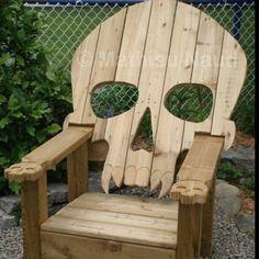 Skull Adirondack Chair