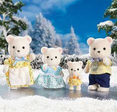 Calico Critters Polar Bear Family