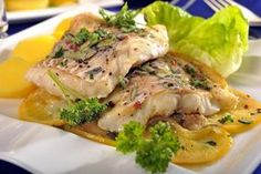 Bylinková ryba s citronem No Salt Recipes, Meat Recipes, Fish And Meat, Ham, Sushi, Food And Drink, Turkey, Gluten Free, Chicken