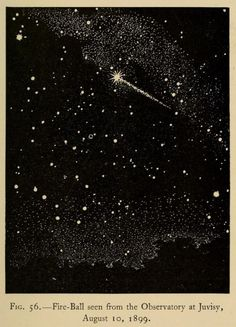 nemfrog:Fig 56. Fire ball seen from the Observatory at Juvisy, August 10, 1899.