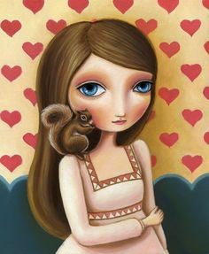 Girl with a squirrel -