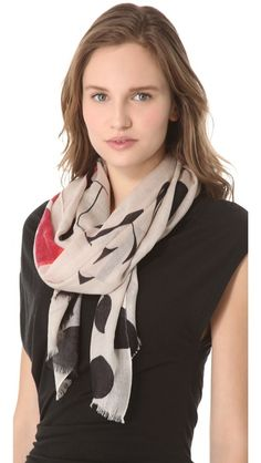 we are owls  Words Scarf  R 1,561.43   $175.00 A bold graphic scarf announces that someone 'Loves you so much it hurts.'    50% cashmere/50% silk.