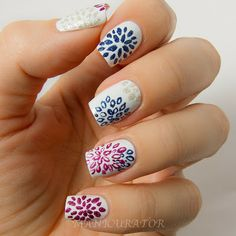 Zoya Pixie Dust Fall 2013 - The Nail Challenge Collaborative: Nail Art Flowers