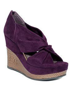 madden girl shoes, kashmir wedges (purple).
