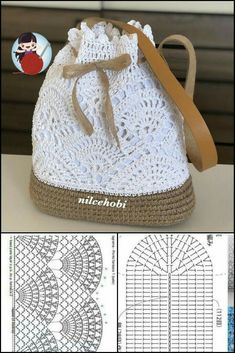Crochet Tote, Crochet Handbags, Crochet Purses, Crochet Crafts, Crochet Stitches, Crochet Baby, Crochet Projects, Knit Crochet, Crochet Shawl