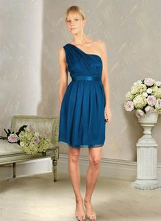 Bridesmaid dress. Love the one sholder strap, minus the color.