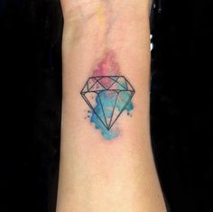 #tattoo #inked #watercolortattoo #diamondtattoo #nadink by nadcil