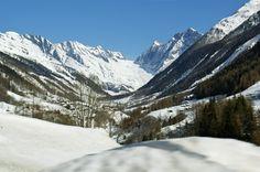 The remote Lotschental Valley Switzerland