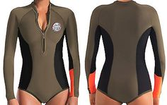 Women 47356: Nwt Rip Curl Womens G-Bomb 1Mm Long Sleeve Booty Spring Suit Wetsuit Fatigue 8 BUY IT NOW ONLY: $69.99