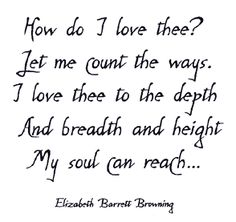 an introduction to xxxv a sonnet by elizabeth barrett A brief introduction to barrett browning's life elizabeth barrett browning (1806-61) was one of the most popular poets of the victorian era, and although her achievement is now eclipsed by that of the man she married in 1846, she was the more popular poet of the two of them during her lifetime and only narrowly.