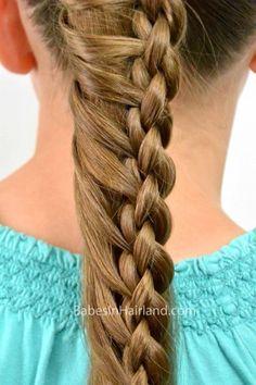 Round 4 Strand Ladder Braid from BabesInHairland.com #ladderbraid #braid #4strandbraid #hairstyles #hair