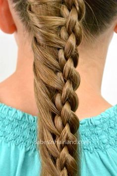 Round 4 Strand Ladder Braid from BabesInHairland.com #ladderbraid #braid #4strandbraid #hairstyles #hair