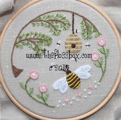 Bee's World Crewel Embroidery Pattern