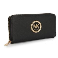 Perfect Michael Kors Saffiano Continental Large Black Wallets, Perfect You