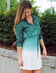 Ladies Women Fashion Gradient Color Spring Autumn Shirtdress Mini Dress Long Blouse Shirt Tops http://www.wholesalebuying.com/product/stylish-ladies-women-fashion-gradient-color-spring-autumn-shirtdress-166854?utm_source=pin&utm_medium=cpc&utm_campaign=ZYWB16  dress to every chance