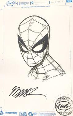 (by Humberto Ramos) Spiderman Sketches, Spiderman Drawing, Marvel Drawings, Spiderman Art, Amazing Spiderman, Spiderman Tattoo, Spiderman Pictures, Marvel Art, Ms Marvel