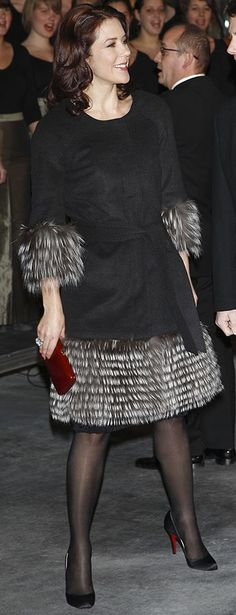 HRH Mary, Crown Princess of Denmark, Countess of Monpezat.coat by Henning Olesen