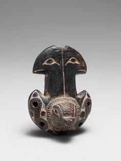 Pre-Columbian Date: 1300–1500 Geography: Sierra Nevada de Santa Marta, Colombia Culture: Tairona People; La Aguja Style Medium: Ceramic Dimensions: L. 6.8 cm (2-11/16 in.); W. 4.9 cm (1-15/16 in.) Classification: Aerophone-Whistle Flute Credit Line: Gift of Roberta Lee Boxer, 1984