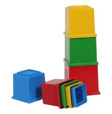 This toy is aimed at improving young childrens hand-eye co-ordination skills and familiarises them with colour and pattern. It helps their hand-eye development in stacking the blocks and also bby placing the blocks inside eachother. it also helps teach them depth in the sense that they would be able to figure out which shape fits inside the appropriate sized block.