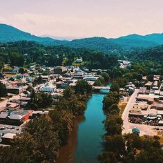Our little town looks so big from this birds eye view! Romantic Asheville, Bryson City Nc, Visit Nc, Mountain Vacations, Our Town, Great Smoky Mountains, Birds Eye View, Travel Guides, Things To Do