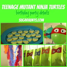 ninja turtle birthday party ideas | ... turtles recently and asked for a teenage mutant ninja turtle party for
