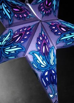 Star Lanterns Turquoise Blue 24 in. Ultra