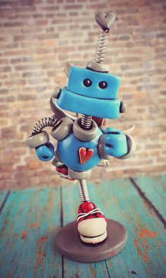 Valentine's Day Robot Cupid Cary  Mini Robot by RobotsAreAwesome, $40.00