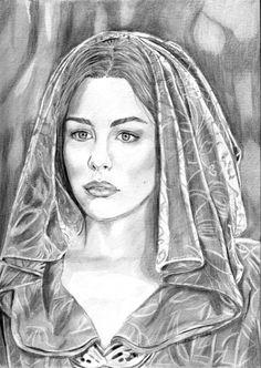 Hooded Arwen by khinson on DeviantArt