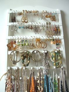 Jewelry Holder w/ 20 pegs. Etsy shop: JewelryHoldersForYou $39.95