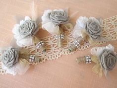 Image detail for -burlap lace feathers grooms boutonniere wedding flower alternatives ...