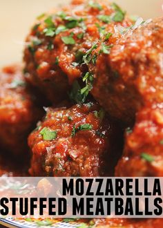 Mozzarella Stuffed Meatballs | 13 Super Tasty Recipes That Will Satisfy Your Life In 2016