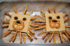 More preschool snacks...the kids loved these lions!