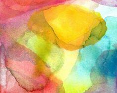 Guía del arte de imprimir Acuarela abstracta por soveryhappyart                                                                                                                                                                                 Más