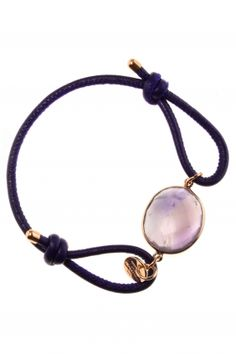 purple leather bracelet with amethyst I designed by marjana von berlepsch I NEWONE-SHOP.COM