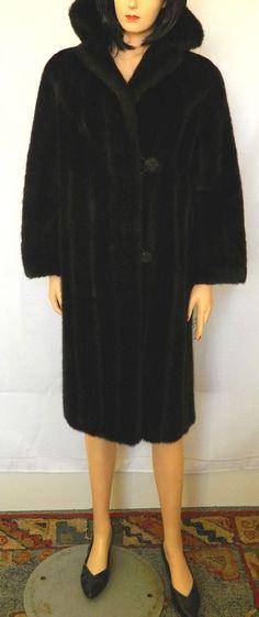 LUXURIOUS VINTAGE BLACK FAUX FUR COAT LISTER MINQUILLA Black Faux Fur Coat, Vintage Black, Online Price, Vintage Items, High Neck Dress, Luxury, Best Deals, Ebay, Dresses