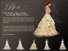 Disney belle style wedding dress