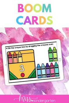 Students will be engaged as they practice number sense kindergarten in these Boom Card Digital Activities for Kindergarten. This is great for remote learning or digital centers kindergarten. This is part of a mega bundle for kindergarten digital resources. Number Sense Activities, Number Sense Kindergarten, Kindergarten Math Activities, Hands On Activities, Daily Math, Crayon Box, Student Motivation, Math Lessons, Math Centers