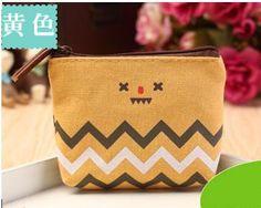 New Arrival Pastoral Style Women Coin Bag Creative Canvas Money Purse Small Mini Porte Monnaie Fashion Key Holder Card Wallet