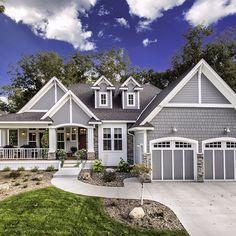 craftsman style homes exterior farmhouse - handwerker stil häuser außen bauernhaus - casas de estilo artesanal casa de campo exterior