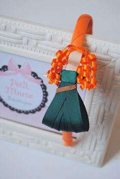 tiara da Merida - Valente  esculturas feitas com fitas de gorgorão à mão.    **ARCO DE TAMANHO ÚNICO - 39CM DE PONTA A PONTA