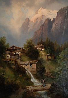 rompedas: 19TH CENTURY ALPINE AND MOUNTAIN PAINTER OF AUSTRIA ...