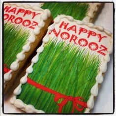check out this Norooz cookies from wonderland bakery!  SO CUTE!    Eid norooz, norouz, eid-e norooz, persian new year, iranian new year, cookies    Wonderland Bakery, Custom Birthday Cakes, Kids Birthday Venue, Custom Cookies, Orange County