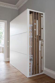 Alison Watt Studio art storage by Helen Lucas Architects, photograph Angus-Bremner | Remodelista, art storage
