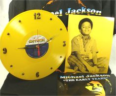 For the Michael Jackson Fan - The Early Years : Record Clock, T-Shirt & Photo Art for Framing.