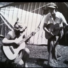 Jamming out in the 70s. My mother and aunt in Poland.