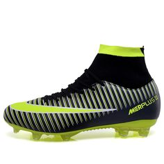 Football shoes for men high cleats soccer original With Socks Professional  Football Boot FOOTBALL WITH ANKLE 8e0828f655b94
