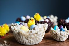 Cute little chocolate Easter nests made in 10 minutes with just 3 ingredients