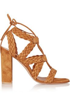Gianvito Rossi Braided suede sandals | NET-A-PORTER